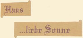 Gästebuch Haus ...liebe-sonne
